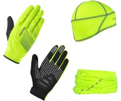 Multipack Gripgrab Hi-Vis Cycling Essentials Keltainen