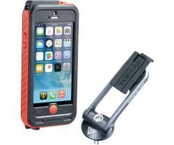 Kännykkälaukku Topeak Ridecase iPhone SE/5/5S musta/punainen + Powerpack 3150 mAh